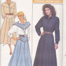 Butterick Sewing Pattern 5766 Misses Size 6-10 Western Style Yoke Button Front Top Flared Skirt