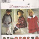 Simplicity Sewing Pattern 0652 9777  Girls Size 2-4 Full Skirt Dress Short Long Raglan Sleeves