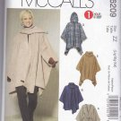 McCalls Sewing Pattern 6209 Misses Size 16-26 Poncho Belt Optional Attached Hood Scarf Turtleneck