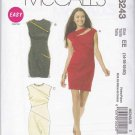 McCalls Sewing Pattern 6243 Misses Size 14-20 Easy Knit Sleeveless Straight Dress Zipper Decor