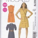 McCalls Sewing Pattern 6279 Womens Plus Size 18W-24W  Easy Double Breast Button Front Straight Dress