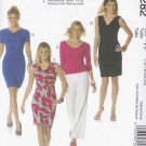 McCalls Sewing Pattern 6282 Misses Size 16-22 Knit Cowl Neck Lined Straight Dresses Top
