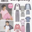 Simplicity Sewing Pattern 5321 Girl Boy Size 7-16 Easy Pants Shorts Pullover Knit Tops Hoodie