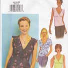 Butterick Sewing Pattern 3385 Misses Size 18-20-22 Easy Empire Waist Mock Wrap Pullover Tops