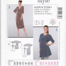 Burda Sewing Pattern 7356 Mises Size 10-22 Easy Maternity Knit Raised Waist Empire Dress Top Tunic