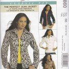 McCall's Sewing Pattern 5860 Misses Size 16-22 Classic Fit Unlined Jean Jacket