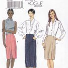 Vogue Sewing Pattern 8773 Misses Size 14-22 Easy Raised Waist Straight Skirt Seam Length Options