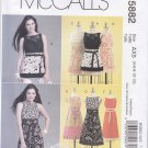 McCall's Sewing Pattern 5882 Misses Size 12-18 Kay Witt Color Blocked Sleeveless Summer Tunic Dress