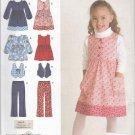 Simplicity Sewing Pattern 2874 Girls Size 3-8 Dress Top Jumper Vest Long Pants