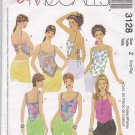 McCall's Sewing Pattern 3128 Misses Size 16-22 Easy Lined Summer Tops Suntops Halter