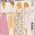 McCall's Sewing Pattern 6389 Misses Size 12 Long Short Gathered Bias Skirts