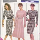 Butterick Sewing Pattern 5756 B5756 Misses Size 6-10 Easy Classic Long Sleeve Straight Flared Dress