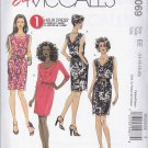 McCall's Sewing Pattern 6069 Misses Size 14-20 Easy Knit Straight Cowl Neckline Dress Sleeve Options