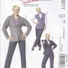 McCall's Sewing Pattern 6211 Misses Size 8-14 Lined Vest Button Front Jacket Pants Belt
