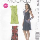 McCall's Sewing Pattern 6280 Misses Size 16-22 Easy A-line Color Contrast Seam Detail Summer Dress