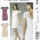 McCall's Sewing Pattern 6505 Misses Size 14-22 Formal Lined Straight Lace Dress Wedding Prom