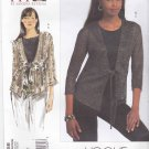 Vogue Sewing Pattern 1058 Misses'/Women's Plus Size 10-32W Easy Knit Cardigan Tank Top Shell