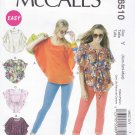 McCall's Sewing Pattern 6510 Misses Size 16-26 Easy Pullover Loose-Fitting Tops Belt