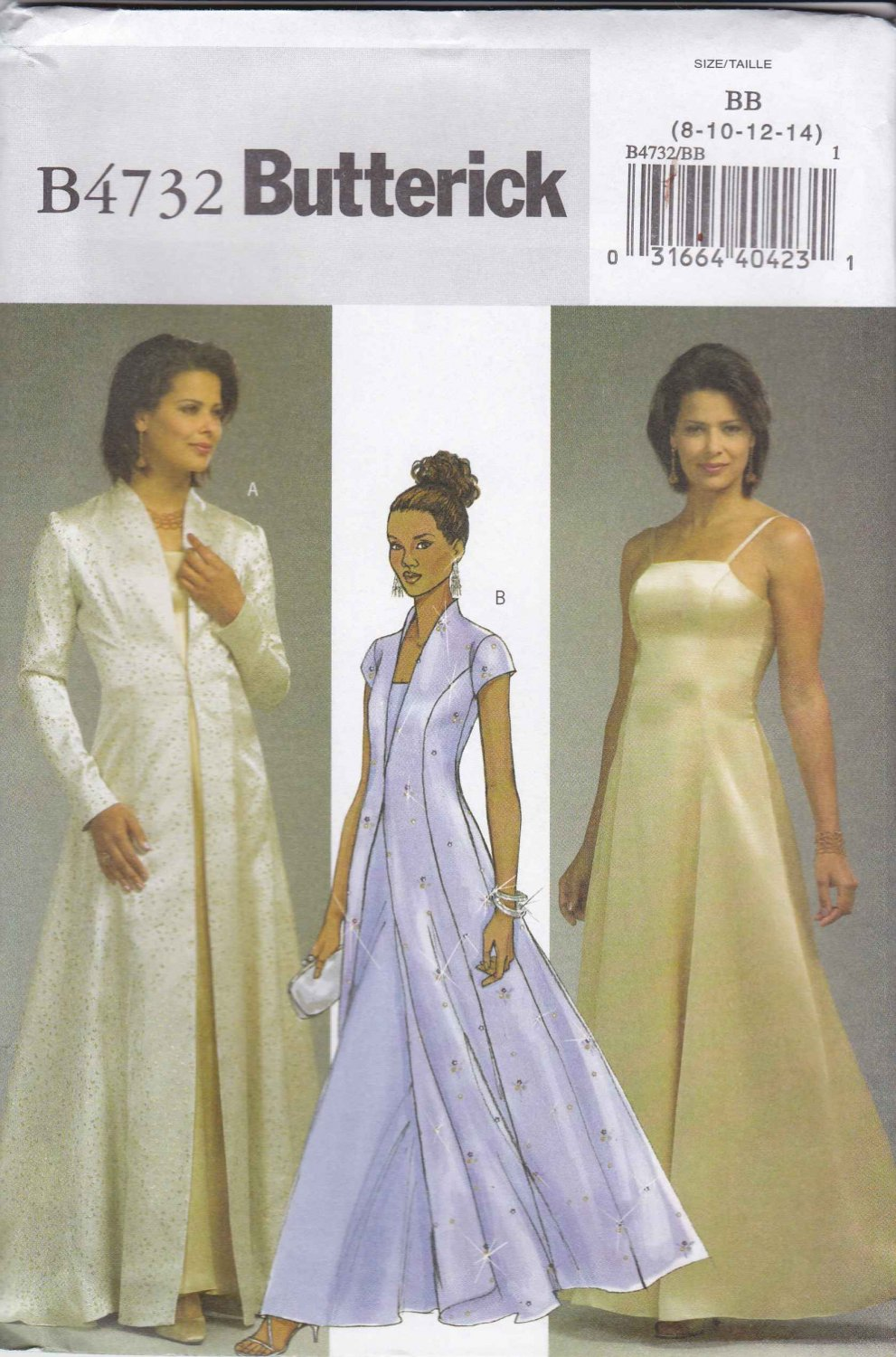 Butterick Sewing Pattern 4732 Misses Size 16-18-20-22 Princess Seam Evening Gown Formal Coat