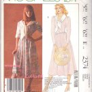 McCall's Sewing Pattern 2374 Misses Size 6-10 Laura Ashley Short Long Sleeve Dress