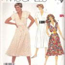 McCall's Sewing Pattern 2414 929 Misses Size 10 Easy Summer Sleeveless Mock Wrap Front Dress
