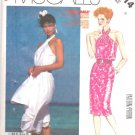 McCall's Sewing Pattern 2514 Misses Size 8 Easy Summer Halter Straight Flared Dress