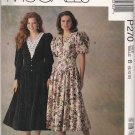 McCall's Sewing Pattern P270 470 Misses Size 8-12 Gathered Skirt Fitted Bodice Dress