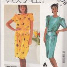 Retro McCall's Sewing Pattern 2370 P926 Misses Size 8 Liz Claiborne Straight Dress Waist Yoke