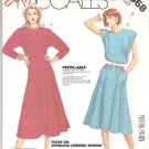 McCall's Sewing Pattern 2568 Misses Size 8 Easy Pullover Dress Sleeless Long Kimono Sleeves