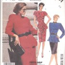 McCall's Sewing Pattern 2801 Misses Size 6-8 Straight Skirt Button Front Peplum Top