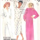 McCall's Sewing Pattern 2802 Misses Size 10-12 Easy Nightgown Bath Robe Jumpsuit Pamajas