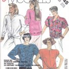 McCall's Sewing Pattern 2945 Misses Size 10-12 Easy Button Front Pullover Tops Sleeve Options
