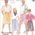 McCall's Sewing Pattern 3058 Misses Mens Unisex Hip Size Small Knee Length Bermuda Pleated Shorts