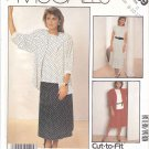 McCall's Sewing Pattern 3059 Misses Size 8-12 Easy Pullover Top Skirt Unlined Jacket