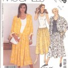 McCall's Sewing Pattern 3065 M3065 Misses Size 6-10 Knit Bodice Gathered Skirt Dress Overshirt