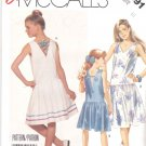 McCall's Sewing Pattern 3091 Girls Size 10 Easy Dropped Waist Sleeveless Summer Dress