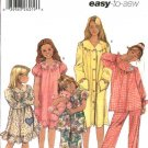 Simplicity Sewing Pattern 5941 Girls Size 3-6 Easy Pajama Nightgown Robe Bathrobe Top Pants