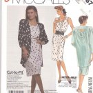 McCall's Sewing Pattern 3167 Misses Size 10-14 Easy Sleeveless Sheath Straight Dress Jacket