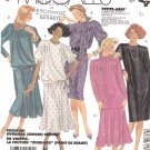 McCall's Sewing Pattern 3264 Misses Size 10 Easy Straight Dress Flared Skirt Top Sleeve Options