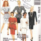 McCall's Sewing Pattern 3759 Misses Size 10-12 Easy Classic Knit Raglan Sleeve Top Skirt