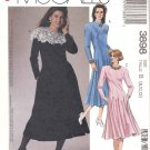 McCall's Sewing Pattern 3898 Misses Size 8-12 Easy Long Sleeve Flared Skirt Princess Seam Dress