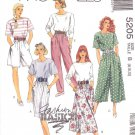 McCall's Sewing Pattern 5205 Misses Size 8-12 Easy Basic Pullover Top Shorts Pants Skirts Culottes