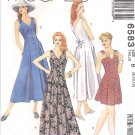 McCall's Sewing Pattern 6583 Misses Size 8-12 Sleeveles Summer Dress Jumpsuit Romper