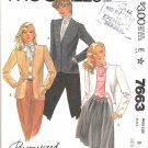 McCall's Sewing Pattern 7663 Misses Size 8 Button Front Lined Cardigan Jacket Palmer/Pletsch