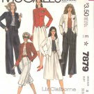 McCall's Sewing Pattern 7879 Misses Size 8 Liz Claiborn Wardrobe Pants Knickers Skirt Jacket