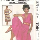 McCall's Sewing Pattern 7961 Misses Size 6-8 Sleeveless Summer Tiered Peasant Sundress Dress