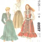 McCall's Sewing Pattern 8257 Misses Size 10 Vest Jacket Full Ruffled Hem Skirt Lacy Blouse