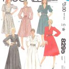 McCall's Sewing Pattern 8295 Misses Size 10 Classic Full Skirt Dress Length Sleeve Neckline Options
