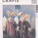 "McCall's Sewing Pattern 8663 Crafts Homespun Sweet Basil Herb 14"" Bunnies"
