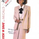 McCall's Sewing Pattern 9470 Misses Size 8-12 Easy Unlined Long Sleeve Jacket Skirt Suit